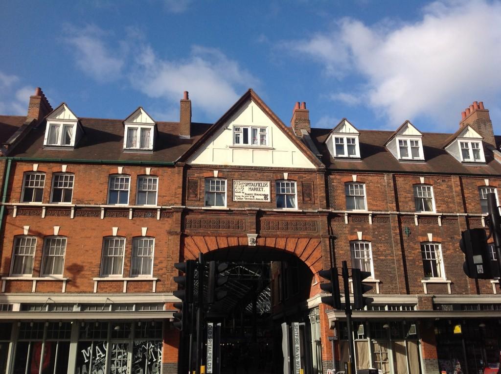 Entrance to Spitalfields Market on Commercial Street