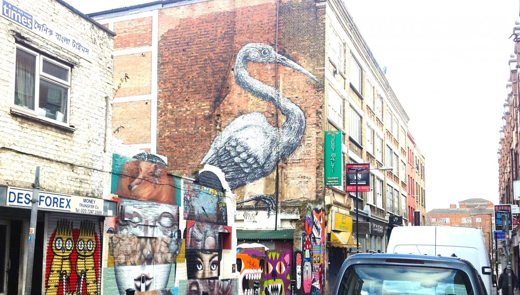 Crane by Roa, Hanbury Street off Brick Lane
